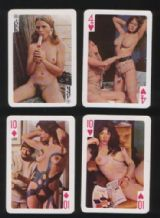 Vintage Pinup  playing cards courts Eva. 1950s